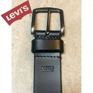LEVI'S Men's blk leather belt